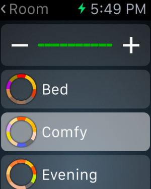 Control brightness and presets from your watch